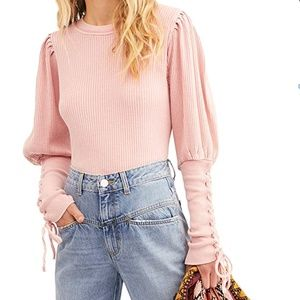 NWT FP ONE Tasha Thermal Top in pink - XS